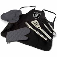 Oakland Raiders BBQ Apron Tote Set