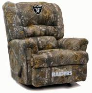 Oakland Raiders Big Daddy Camo Recliner