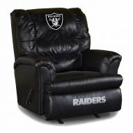 Oakland Raiders Big Daddy Leather Recliner
