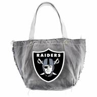 Oakland Raiders Black NFL Vintage Tote Bag