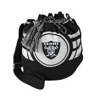 Oakland Raiders Black Ripple Drawstring Bucket Bag