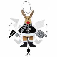 Oakland Raiders Cheering Reindeer Ornament