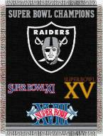 Oakland Raiders Commemorative Throw Blanket