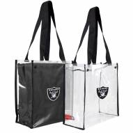 Oakland Raiders Convertible Clear Tote