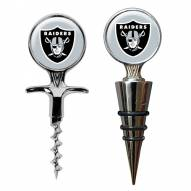 Oakland Raiders Cork Screw & Wine Bottle Topper Set