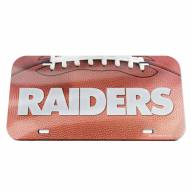 Oakland Raiders Crystal Mirror License Plate