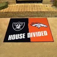 Oakland Raiders/Denver Broncos House Divided Mat