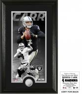 Oakland Raiders Derek Carr Supreme Bronze Coin Panoramic Photo Mint