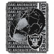 Oakland Raiders Double Play Jacquard Throw Blanket