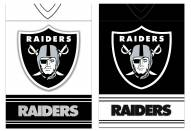 Oakland Raiders Double Sided Jersey Flag