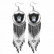 Oakland Raiders Dreamcatcher Earrings