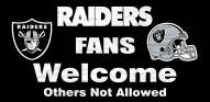 Oakland Raiders Fans Welcome Wood Sign