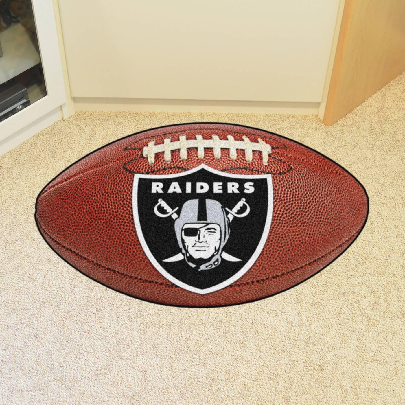 Oakland raiders football floor mat for Oakland flooring