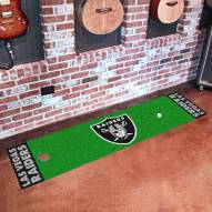 Oakland Raiders Golf Putting Green Mat