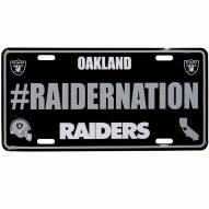Oakland Raiders Hashtag License Plate