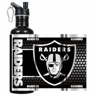 Oakland Raiders Hi-Def Black Stainless Steel Water Bottle
