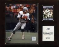 "Oakland Raiders Jim Plunkett 12 x 15"" Player Plaque"