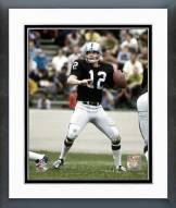 Oakland Raiders Ken Stabler Passing Action Framed Photo