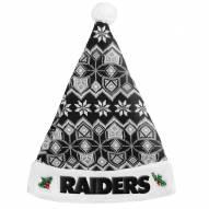 Oakland Raiders Knit Santa Hat