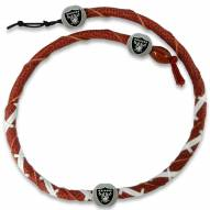 Oakland Raiders Leather Football Necklace