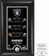 Oakland Raiders Legacy Minted Coin Photo Mint