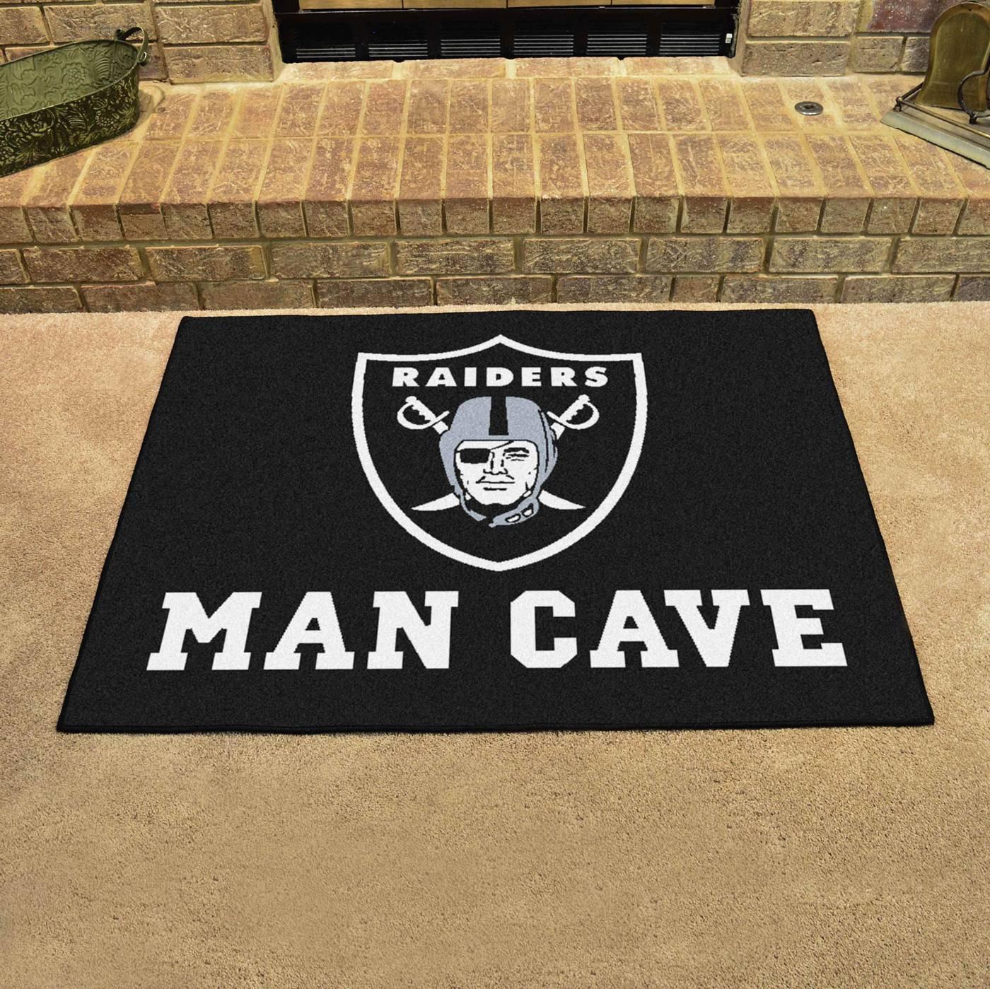 Oakland Raiders Man Cave All Star Rug