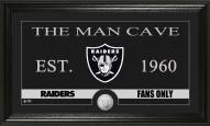 Oakland Raiders Man Cave Bronze Coin Panoramic Photo Mint