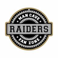 Oakland Raiders Man Cave Fan Zone Wood Sign