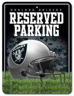 Oakland Raiders Metal Parking Sign