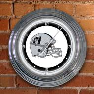 Oakland Raiders NFL Neon Wall Clock