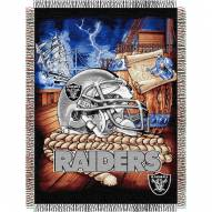 Oakland Raiders NFL Woven Tapestry Throw