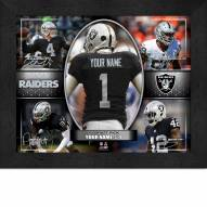 Oakland Raiders Personalized Framed Action Collage
