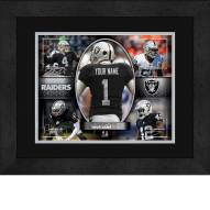 Oakland Raiders Personalized 13 x 16 Framed Action Collage
