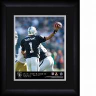 Oakland Raiders Personalized 13 x 16 NFL Action QB Framed Print