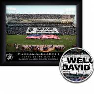 Oakland Raiders Personalized Framed Stadium Print
