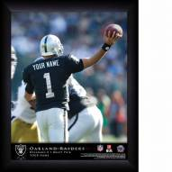 Oakland Raiders Personalized NFL Action QB Framed Print