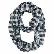 Oakland Raiders Plaid Sheer Infinity Scarf