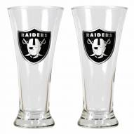 Oakland Raiders Premiere Pilsner Glass Set