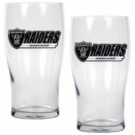 Oakland Raiders 20 oz. Pub Glass - Set of 2