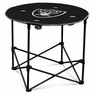 Oakland Raiders Round Folding Table