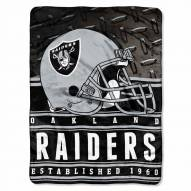 Oakland Raiders Silk Touch Stacked Blanket