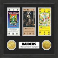 Oakland Raiders Super Bowl Ticket Collection Framed