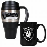 Oakland Raiders Travel Mug & Coffee Mug Set