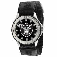 Oakland Raiders Veteran Velcro Mens Watch