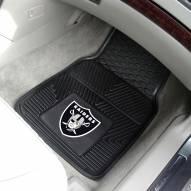 Oakland Raiders Vinyl 2-Piece Car Floor Mats
