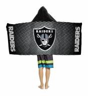 Oakland Raiders Youth Hooded Towel