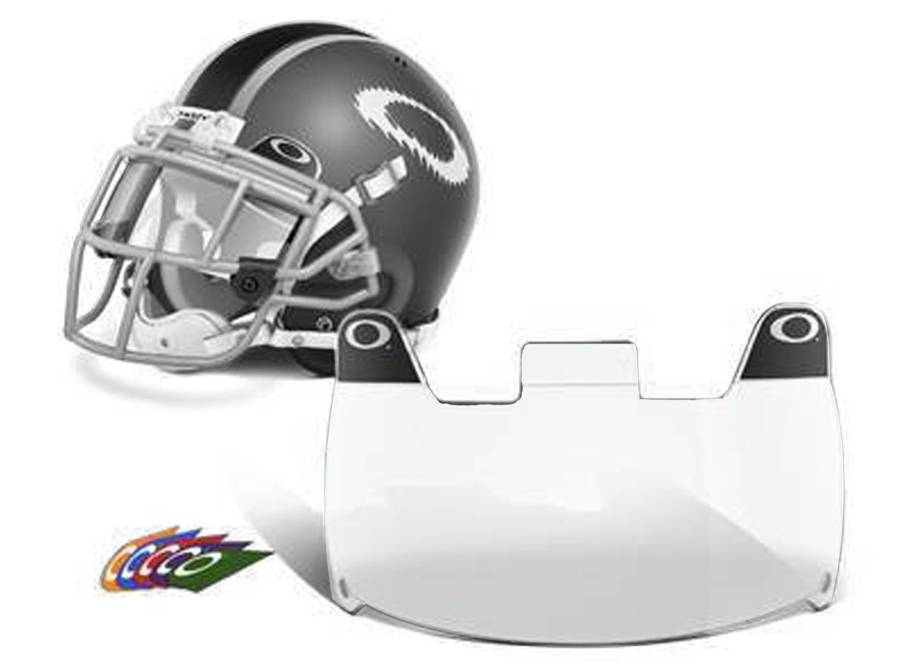 under armour visor football. the oakley football eyeshield - clear is visor of choice for high school to professional athletes. definition optics (hdo) eliminates under armour