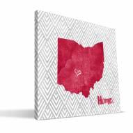 "Ohio State Buckeyes 12"""" x 12"""" Home Canvas Print"