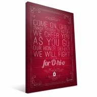 "Ohio State Buckeyes 16"""" x 24"""" Song Canvas Print"