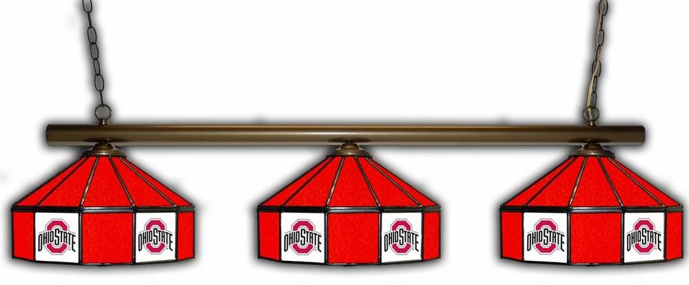 Ohio State Buckeyes 3 Shade Pool Table Light